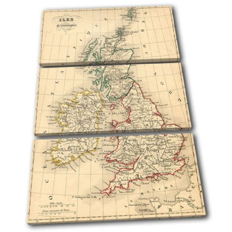 Old Vintage UK Atlas Maps Flags - 13-1777(00B)-TR32-PO